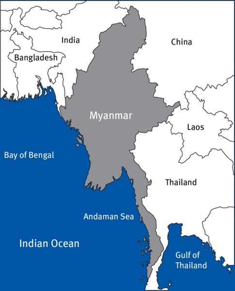 Karte Myanmar.Myanmar Coastal Development And Biodiversity